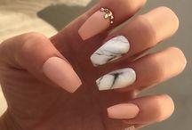 Marmurkowe Paznokcie Hybrydowe/ Marble Nails/ Stone Nails Ideas