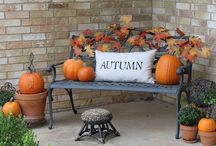 fall decor happiness / by Mary Weise
