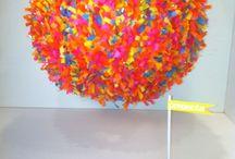 I Heart Festooning / All things festooning...I love this stuff and think you will too! tissue festooning garland