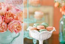 Kleurenthema: Mintgroen en Peach