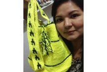 Bags crochet bolsa de crochê Feitas por mim