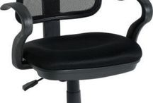 Black Chairs Office Height Adjustable Swivel Workstation Study Desk Computer PC
