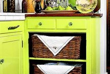 Inside the cupboards & fridge / Not only organization, but to make the inside of the cupboards and fridge pretty and fun to find items inside.   / by Jackie Whitnack