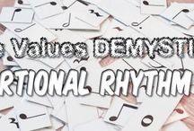 Rhythm Teaching Activities / Free printables, rhythm activities, teaching rhythm, teaching note values, note value games, piano teaching games, piano teacher ideas.