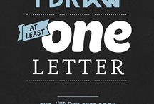HVD Fonts Type Book / Every day I draw at least one letter