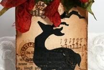 Hjemmelavet jule manillamærker