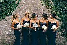 Navy and white wedding