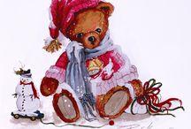 Мишки новогодние