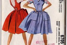 Vintage Patterns: Dresses / Vintage Sewing Patterns for women's dresses / by Cosmo Martinelli