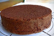 pão de ló de chocolate