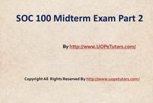 SOC 100 Midterm Exam Part 2 UopeTutors