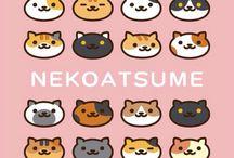 Neko Atsume ~ nyan nyan ~ / I love this game! Cute Kittens everywhere, yeay. The memes are awesome.