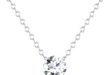 Diamond Solitaire Pendants / Diamond solitaire pendants are staple pieces of jewelry for every woman of any age.  We offer both non-certified as well as certified diamond pendants in round brilliant, princess cut, and kite settings.