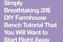 Bench -X design farmhouse style