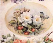 Pintura em porcelana em tecido
