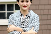 Crochet triangle stitch shawls
