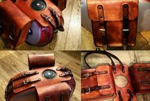 Leather bags for Cafe Racer