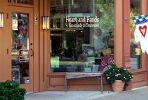 Main Street in Franklin, TN / Often called America's Favorite Main Street, Downtown Franklin, TN is as full of charm as it is history. Heart and Hands is pleased to be located right on Main Street - stop by next time you're in town!