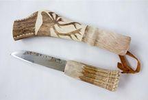 Saamen puukkoja / saamelaisia perinnepuukkoja