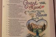 BIBLE JOURNALING / Bible journaling with art