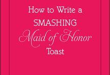 Maid of honour speech ideas