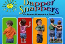 Dapper Snappers / An adjustable toddler belt entirely #madeintheusa to keep your little ones pants fitting just right! Available at http://www.treasureboxkids.com/dapper-snappers.html