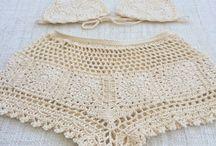 biquini  modelo  short  de  crocher