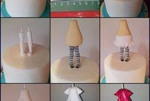 Cake toppers / Fondant, cukorpaszta torta díszek, figurák