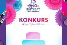 Urodzinowy konkurs Super-Pharm / Zapraszamy do udziału w naszym urodzinowym konkursie :) Szczegóły: tinyurl.com/SuperPieknaOd15Lat.