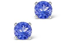 Tanzanite Earrings / Tanzanite is the birthstone for December and makes a wonderful birthday gift for those born in mid-winter. This seems a particularly appropriate month for a gem that glimmers in icy blue hues. Tanzanite is also the gemstone gifted on 24th wedding anniversaries.