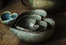 Beautiful earthenware / Pieces that will hopefully  give me new ideas for my own work.