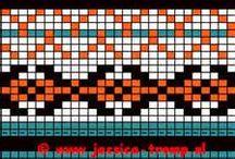 Patronen voor Mochilatassen / mochilapatterns / Hier vind je telpatronen voor Mochilatassen / by Jolanda van Rheenen