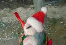 walnut baby Christmas cute mouse / Christmas mouse cute walnut decoration for christmas tree ornament