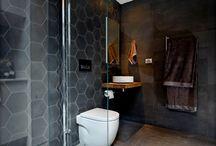 moody bathroom tiles and looks