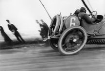 Earliest....VroOOm! / { The beginnings of Motor Racing, from the earliest contraptions to the high tech machines of the fifties. 1887 to 1959, four wheels, two wheels, four cylinders, V8 and steam powered. From twisting road courses through the countryside to board track ovals. } / by Richard da Mota
