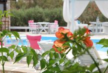 The Gardens of Island House Hotel in Ios island, Greece! / We love flowers. The colors and the aromas are adding to your stay touches of relaxation!  http://www.islandhouse.gr/