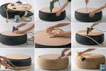 Tires ( how to recicle ) / by Nitza I. Carmona