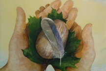 My Work / Mixed Media, collage, plein air painting, monoprints, faux finishing, and more...!