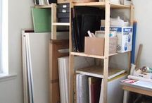 Art studios and workspaces / Tame the disaster.  Craft space, art studio, work rooms