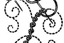 bordado a mano ( cordón)
