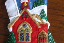 Bota de casa de navidad