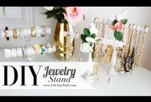 DIY jewelry stands