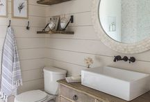Farmhouse Bathroom, black and white