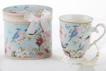 Gift Boxed Porcelain Tea Cups, Teapots, Mugs and Tea for One Sets / No need to gift wrap when you purchase our gift boxed mugs, tea cups and tea for one sets!  Gorgeous porcelain gifts ready to give!