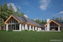 Ground-floor house plans (Projekty domów parterowych) / Ground-floor house plan. Projekty domów parterowych.