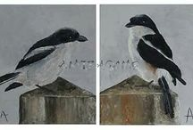 Bird Paintings / Various birds I painted with knife & oil or acrylics