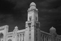 Black and White Fine Art Buildings.