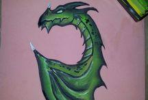 face painting draken