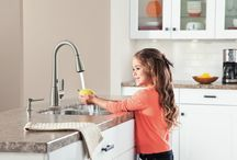 Touch and Touchless Kitchen Faucets / Stylish and oh, so functional, touch and touchless faucets help eliminate mess by eliminating the need to touch handles with messy hands! / by eFaucets.com .