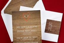 Rustic Wedding Invitations / by Papers Unique